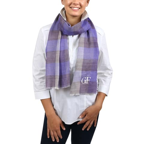 Gianfranco Ferre D89C3308/3 Lavender Checkered Scarf - 15-45