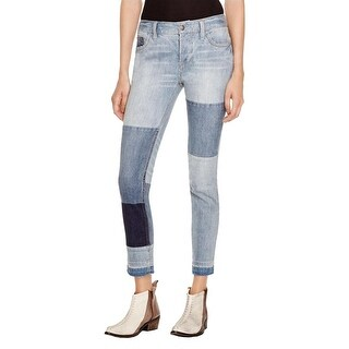 Free People Womens Relaxed Jeans Distressed Patched