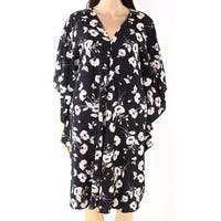 Lauren by Ralph Lauren Black Women Size Large L Floral Kaftan Dress