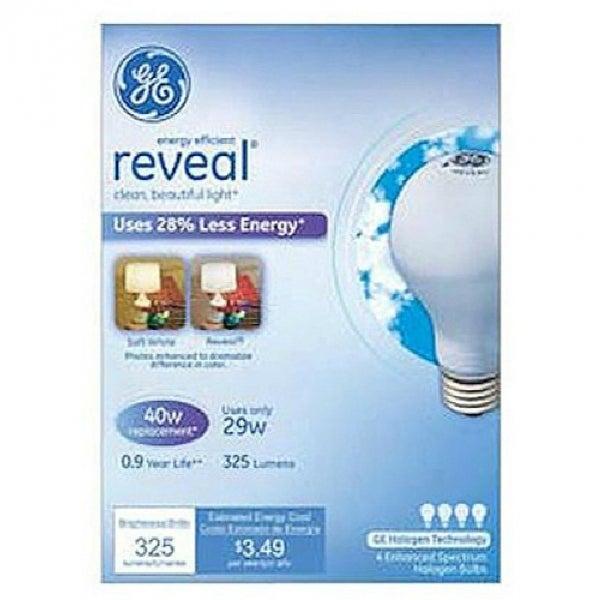 GE 67769 Reveal 29AW/RV/H A Line Halogen Bulb, 29W, Soft White, 3