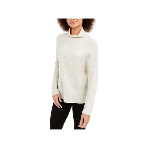 FRENCH CONNECTION Womens Beige Long Sleeve Sweater Size L