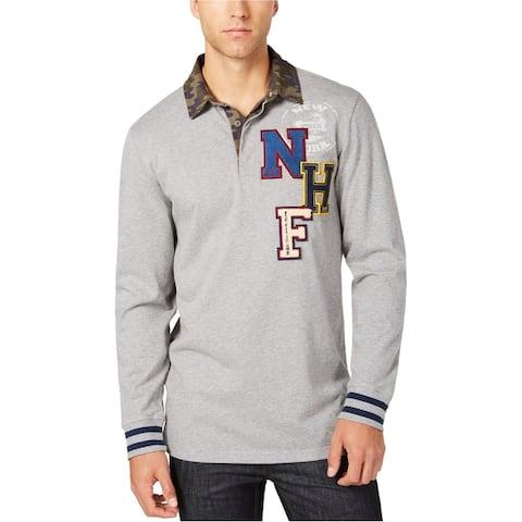 American Rag Mens Camo Collar Rugby Polo Shirt