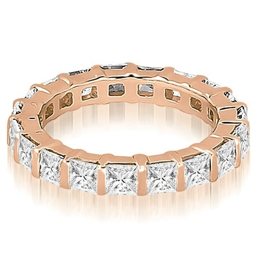 4.50 cttw. 14K Rose Gold Princess Diamond Eternity Ring