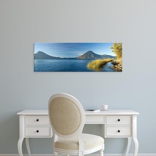 Easy Art Prints Panoramic Image 'Reeds, Lake Atitlan, Santa Cruz La Laguna, Western Highlands, Guatemala' Canvas Art