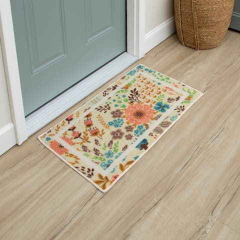 Mohawk Home Summer Floral Kitchen Mat Scatter Accent Rug