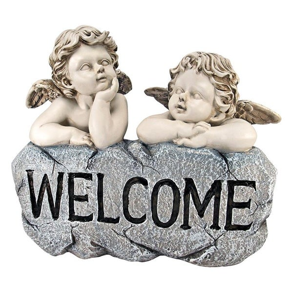 Raphaels Cherub Twins Welcome Statue. Opens flyout.