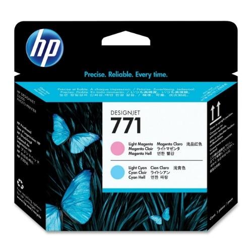 HP 771 Original Printhead Light Magenta & Cyan (CE019A)(Single Pack)