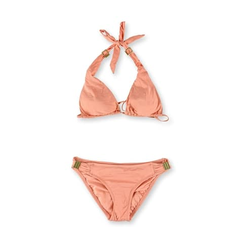 Bar Iii Womens Halter Triangle 2 Piece Bikini