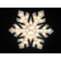 """20"""" Lighted Snowflake Christmas Window Silhouette Decoration (Pack of 4) - WHITE"""
