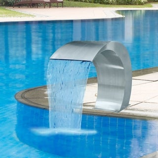 Link to vidaXL Waterfall Pool Fountain Stainless Steel Descent Pond Garden Outdoor Similar Items in Outdoor Decor