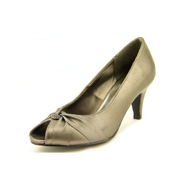 Easy Street Sunset Women W Peep-Toe Synthetic Gray Heels