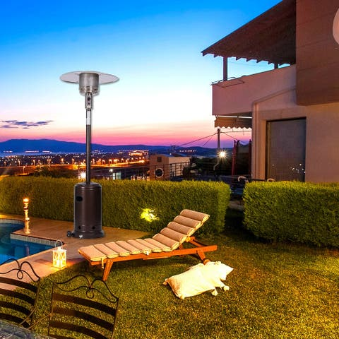 Outdoor Gas Heater,Portable Power Heater,88 Inches Tall Premium Standing Patio Heater With Simple Ignition System