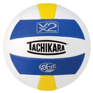 Tachikara SofTec VX2 Volleyball, Royal - White - Yellow