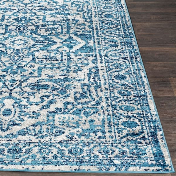 Abbas Navy Gray Vintage Traditional Area Rug 7 10 X 10 3 On Sale Overstock 21722248