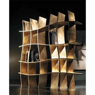 Nua Collection 13.5 x 11.5 in. Wooden Book Stand with Gold Design