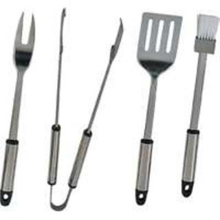 Mintcraft Q-430A3L BBQ 4 Pieces Barbecue Tool Set, Stainless Steel