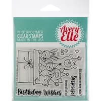 "Avery Elle Clear Stamp Set 4""X3""-Critter Crew"
