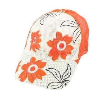 Unique Bargains Tasharina Women's Outdoor Braided String Meshy Adjustable Sun Visor Hat Cap White