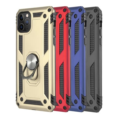 Hybrid Protective Case with Rotatable Ring Stand For Iphone 11 Pro Max
