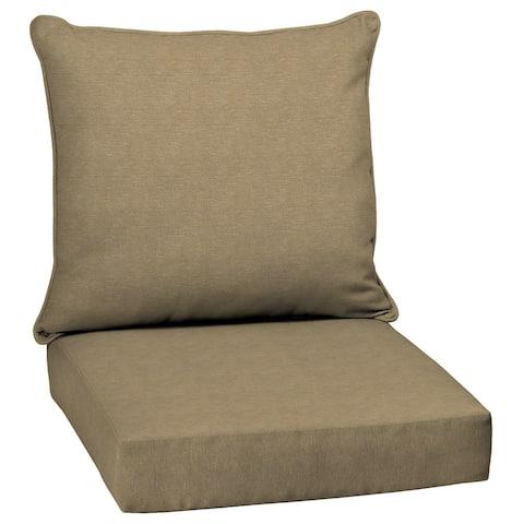 Arden Selections Tan Hamilton Texture Outdoor Deep Seat Cushion Set - 24 W x 24 D in.