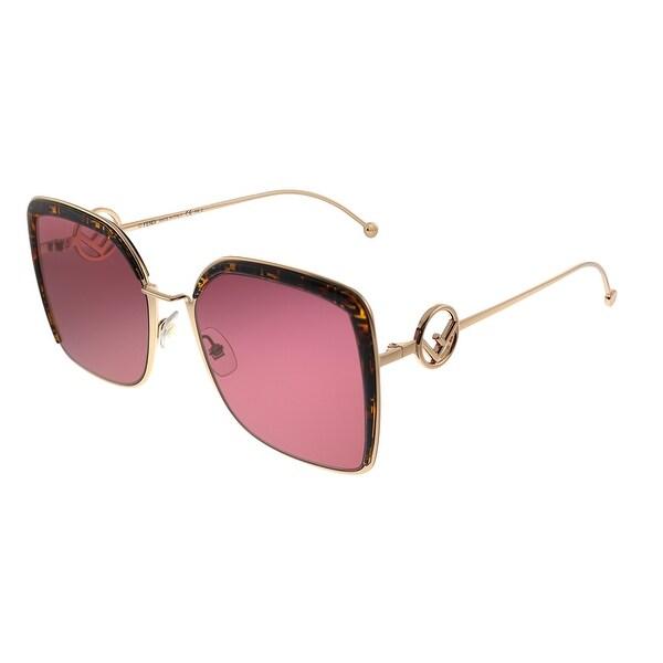 Fendi F is Fendi FF 0294 DDB Womens Gold Copper Frame Red Lens Sunglasses. Opens flyout.