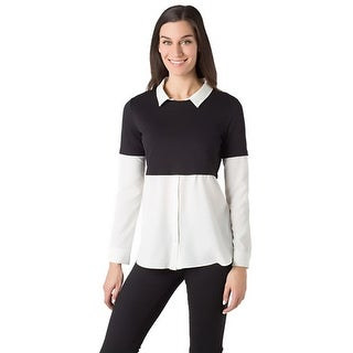 supply & demand Womens Blouse Layered Long Sleeves