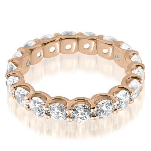 2.70 cttw. 14K Rose Gold Classic U-Prong Round Diamond Eternity Band Ring