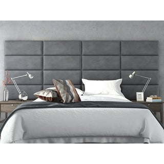 upholstered wall panels padded vant upholstered wall panels headboards sets of micro suede gray 30 shop