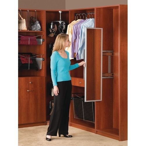 Beautiful Rev A Shelf CM 1448 1 CM Series 3 7/16 Inch Wide Pullout Closet Mirror    Free Shipping Today   Overstock.com   23517836