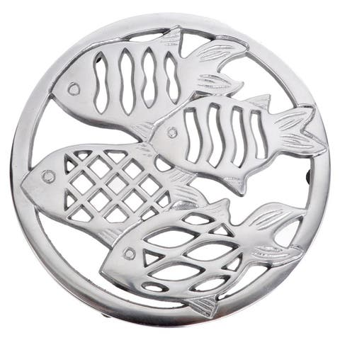 School of Fish Embossed Aluminum Kitchen Trivet
