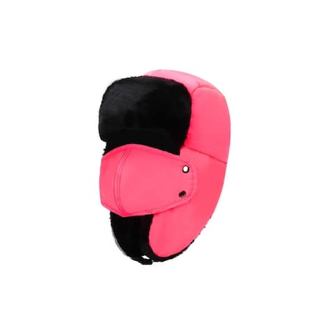 BravemanUnisex Eskimo Winter Hunting Hat with Ear Flaps and Removable Mask