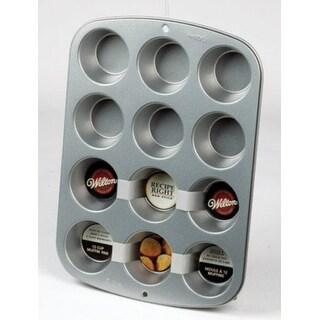 Wilton 2105-954 Recipe Right Regular Muffin Pan, 12 Cup