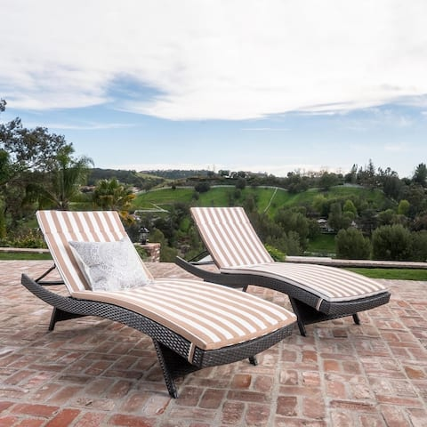 Vilano Outdoor Cushioned Lounge Chairs (Set of 2) by Havenside Home