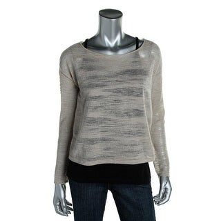 Eileen Fisher Womens Bateau Neck Boucle Pullover Sweater - M