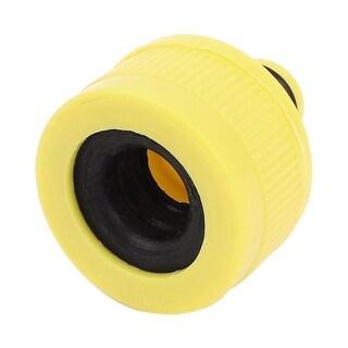 Unique Bargains Yellow Plastic 15mm Female Thread Garden Water Gun Hose Quick Fitting Connector