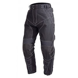 Motorcycle Cordura Waterproof Riding OverPants Black with Removable CE Armor PT5