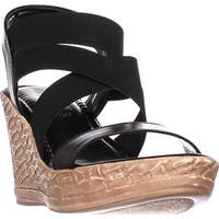 Tuscany Easy Street Felisa Strappy Wedge Sandals, Black