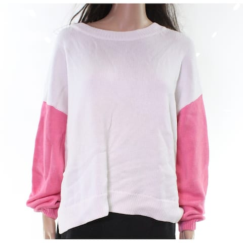 525 America Womens Sweaters Pink Size Medium M Crewneck Colorblock