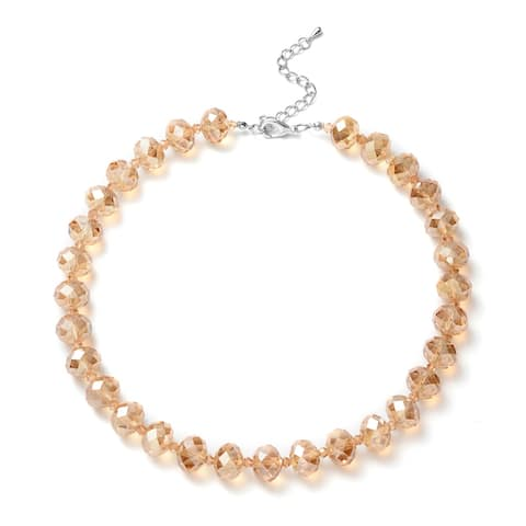Shop LC Champagne Glass Necklace Jewelry Gift Size 18-20 In - Size 18-20''