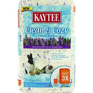 Kaytee 100509425 Fiesta Clean & Cozy Lavender Bedding for Small Pets, 500 Cuin