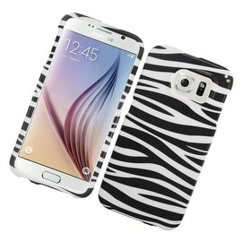 Insten Zebra Hard Snap-on Rubberized Matte Case Cover For Samsung Galaxy S6