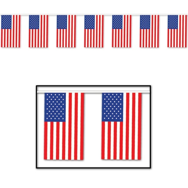 club pack of 12 patriotic outdoor american flag banner hanging party