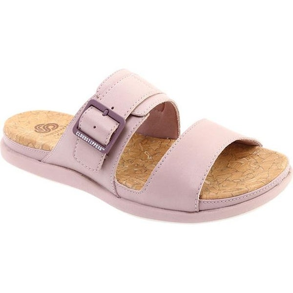 37116a3bfe8 Shop Clarks Women s Step June Tide Slide Dusty Pink Synthetic - Free ...