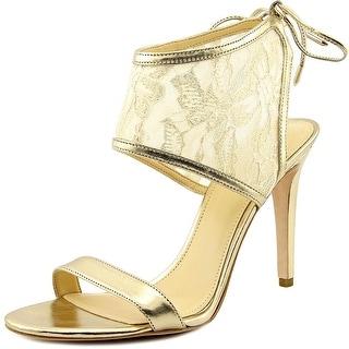 Ivanka Trump Daza Women Open Toe Synthetic Gold Sandals