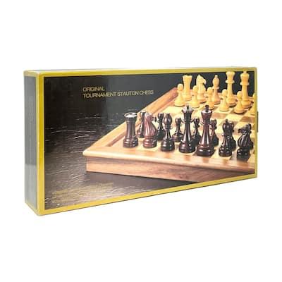 Original Tournament Staunton Chess Set with Folding Board