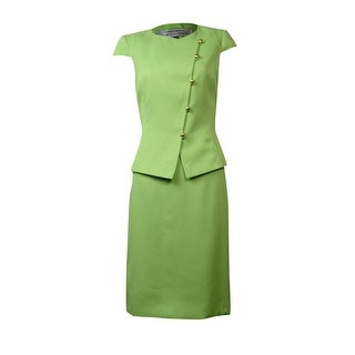 Tahari Women's Arizona Allure Asymmetrical Woven Skirt Suit