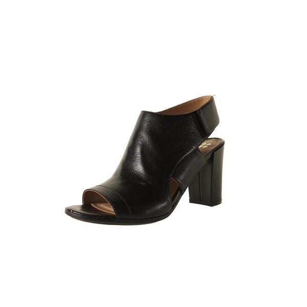 Naturalizer Womens Zahn Block Heels Leather Open Toe