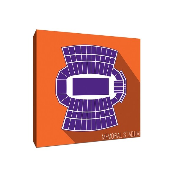 Clemson Tigers - Memorial Stadium - College Football Seating Map - 16x16 Canvas