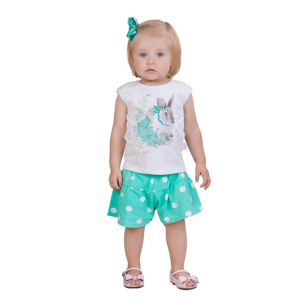 Pulla Bulla Baby Girl Set Polka Dot Tank Top and Shorts Outfit