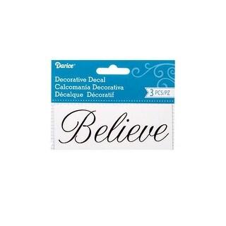 Darice Word Decal 1.75x4.5 Believe 3pc